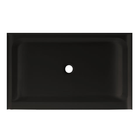 "Voltaire 48"" X 36"" Center Drain, Shower Base in Black"