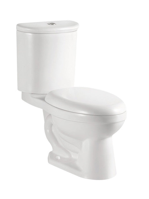 Two Piece Toilet Dual Flush White Swiss Madison Well