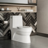 Virage One Piece Elongated Left Side Flush Handle Toilet 1.28 gpf