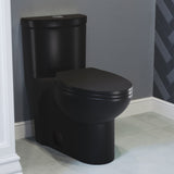Sublime One Piece Elongated Toilet Dual Flush, Matte Black 1.1/1.6 gpf