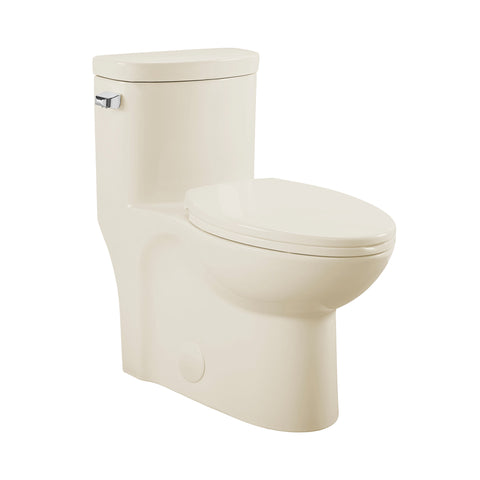 Sublime One-Piece Elongated Left Side Flush Handle Toilet in Bisque 1.28 gpf