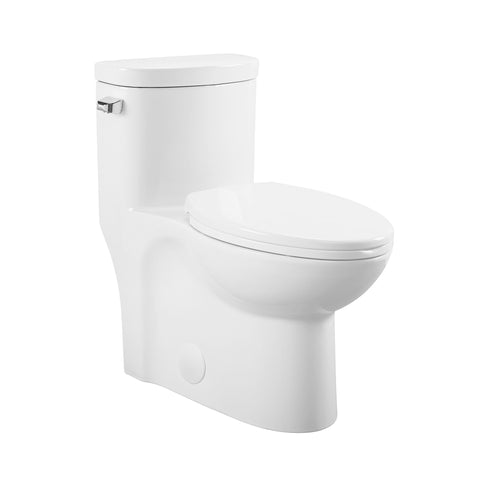 Sublime One Piece Elongated Left Side Flush Handle Toilet