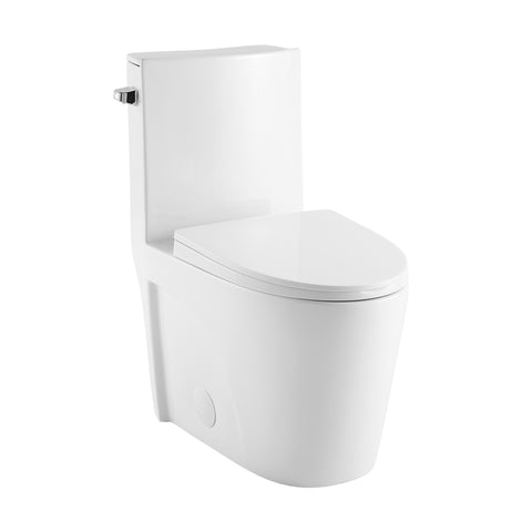 St. Tropez One Piece Elongated Toilet Side Flush 1.28 gpf