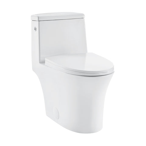 Hugo One Piece Elongated Toilet, Touchless
