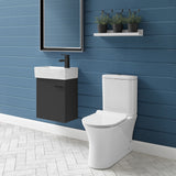 Calice Two Piece Elongated Rear Outlet Toilet Dual Flush 1.1/1.6 gpf