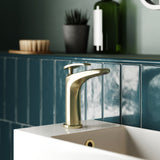 Sublime 6.5 Single Handle, Bathroom Faucet in Brushed Gold