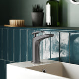 Sublime 6.5 Single Handle, Bathroom Faucet in Gunmetal Gray