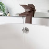 Monaco Single Hole, Single-Handle, High Arc Bathroom Faucet in Oil Rubbed Bronze