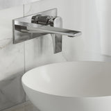 Monaco Single-Handle, Wall-Mount, Bathroom Faucet in Chrome