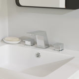 Carré Widespread, Double Handle, Bathroom Faucet in Chrome
