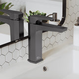 Voltaire Single Hole, Single-Handle, Bathroom Faucet in Gunmetal Gray