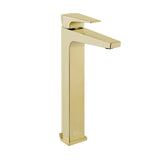 Voltaire Single Hole, Single-Handle, High Arc Bathroom Faucet in Brushed Gold