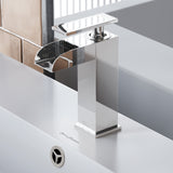 Concorde Single Hole, Single-Handle, Waterfall Bathroom Faucet in Chrome