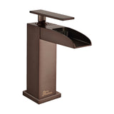 Concorde Single Hole, Single-Handle, Waterfall Bathroom Faucet in Oil Rubbed Bronze