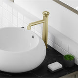 Avallon 12 Single Handle, Bathroom Faucet in Brushed Gold