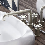 Avallon Widespread, Double Handle, Bathroom Faucet in Brushed Nickel