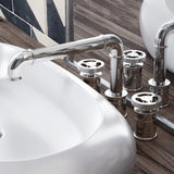 Avallon Widespread, Double Handle, Bathroom Faucet in Chrome