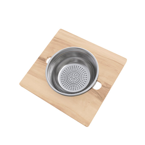 15.75 x 16.75 Flatform with Colander and Mixing Bowl