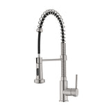 Nouvet Single Handle, Pull-Down Kitchen Faucet in Brushed Nickel