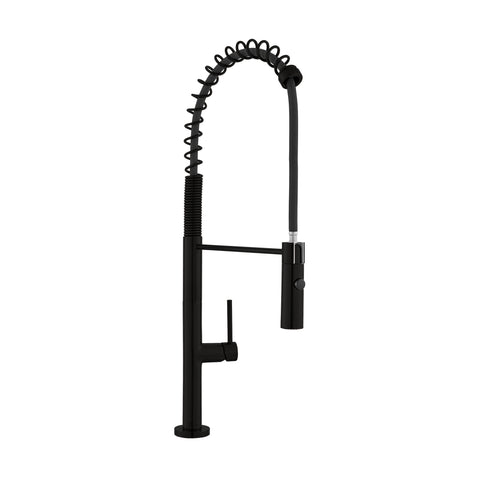 Chalet Single Handle, Pull-Down Kitchen Faucet in Matte Black