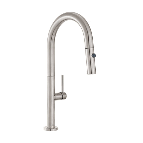 Chalet Single Handle, Pull-Down Kitchen Faucet in Brushed Nickel