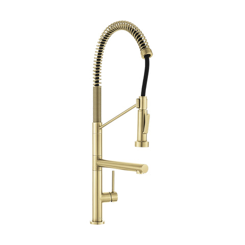 Nouvet Single Handle, Pull-Down Kitchen Faucet with Pot Filler in Brushed Gold