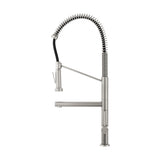 Nouvet Single Handle, Pull-Down Kitchen Faucet with Pot Filler in Brushed Nickel