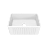 "Delice 24"" x 18"" Ceramic Farmhouse Kitchen Sink"