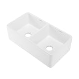 "Delice 33"" x 18"" Duo Ceramic Farmhouse Sink"