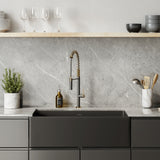 Lyon 33 x 18 Fireclay, Single Basin, Farmhouse Kitchen Sink in Matte Black
