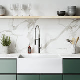 Lyon 30 x 18 Fireclay, Single Basin, Farmhouse Kitchen Sink in White