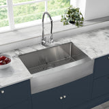 "Rivage 33"" x 21"" Stainless Steel, Single Basin, Farmhouse Kitchen Sink with Apron"
