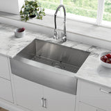 "Rivage 30"" x 21"" Stainless Steel, Single Basin, Farmhouse Kitchen Sink with Apron"