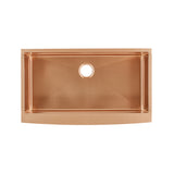 "Rivage 36"" x 21"" Stainless Steel, Single Basin, Farmhouse Kitchen Sink with Apron in Rose Gold"