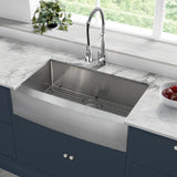 "Rivage 36"" x 21"" Stainless Steel, Single Basin, Farmhouse Kitchen Sink with Apron"