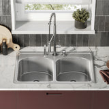Ouvert 33 x 22 Dual Basin, Top-Mount Kitchen Sink