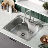 Ouvert 25 x 22 Single Basin, Top-Mount Kitchen Sink