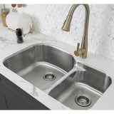 Toulouse 32 x 21 Stainless Steel, Dual Basin, Undermount Kitchen Sink