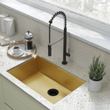 "Tourner 27"" x 19"" Stainless Steel, Single Basin, Undermount Kitchen Sink in Gold"