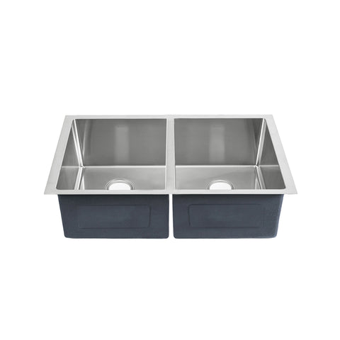 "Rivage 31"" x 18"" Dual Basin, Undermount Kitchen Sink"