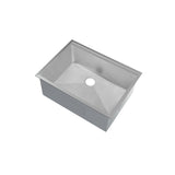 Rivage 27 x 19 Single Basin Undermount Kitchen Workstation Sink