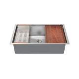 Rivage 33 x 19 Single Basin Undermount Kitchen Workstation Sink