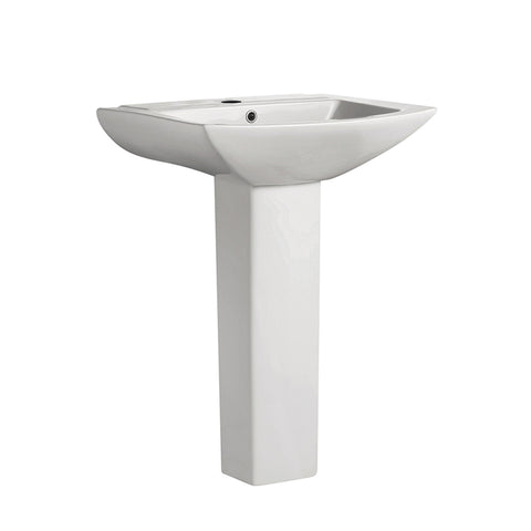 Sublime Square Two-Piece Pedestal Sink