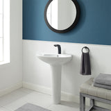 Plaisir Rounded Two-Piece Pedestal Sink