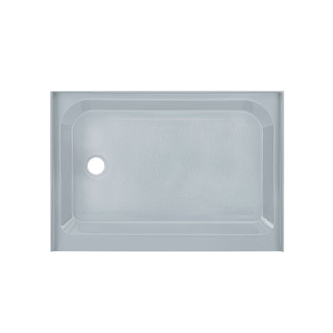 Voltaire 48 x 36 Single-Threshold, Left-Hand Drain, Shower Base in Grey