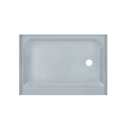 Voltaire 48 x 36 Single-Threshold, Right-Hand Drain, Shower Base in Grey