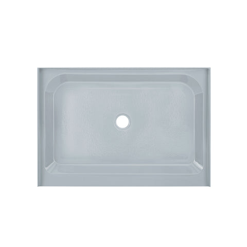 Voltaire 48 x 36 Single-Threshold, Center Drain, Shower Base in Grey
