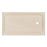 Voltaire 60 x 36 Single-Threshold, Right-Hand Drain, Shower Base in Biscuit