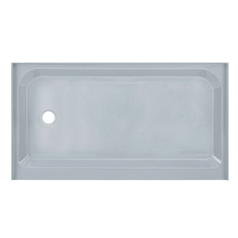 Voltaire 60 x 36 Single-Threshold, Left-Hand Drain, Shower Base in Grey