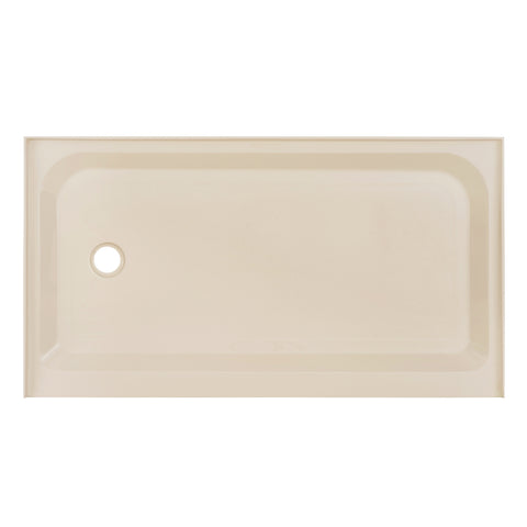 Voltaire 60 x 36 Single-Threshold, Left-Hand Drain, Shower Base in Biscuit